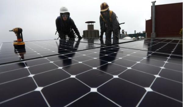 People doing solar